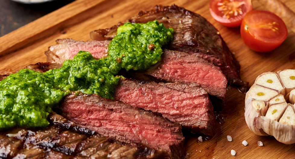 NY Strip with Chimichurri Sauce