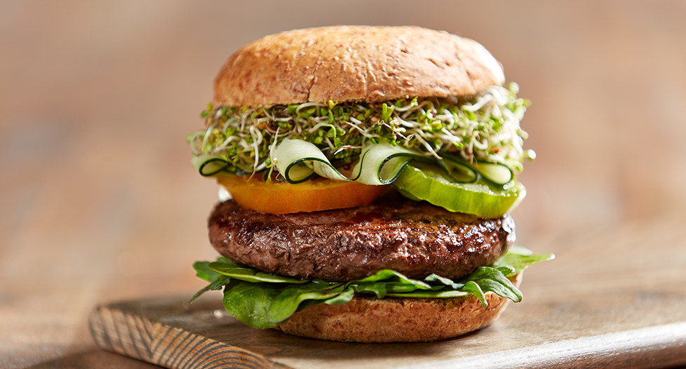 summer burger recipe with grass fed beef