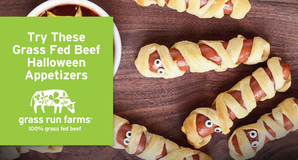 Mummy Dogs - grass fed beef halloween appetizers
