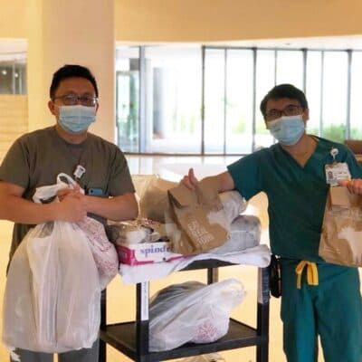 jbs burger lounge and frontline feed hospital workers